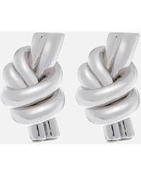 JW Anderson - Women's Metallic Knot Earrings - Lyst