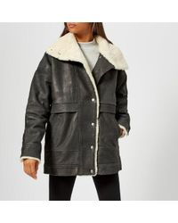 Gestuz - Women's Lilli Jacket With Sheepskin Trim - Lyst