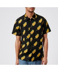 PS by Paul Smith - Men's Shorts Sleeve Ice Lolly Print Casual Fit Shirt - Lyst