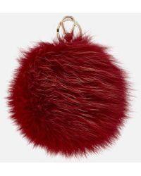 Furla - Women's Bubble Pom Pom Keyring - Lyst