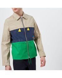 KENZO - Men's Colour Block Zip Jacket - Lyst