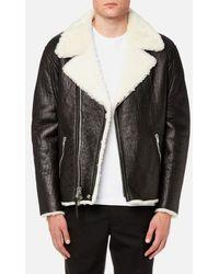 COACH - Men's Shearling Moto Jacket - Lyst
