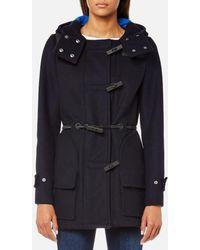 HUNTER - Women's Original Bonded Wool Duffle Coat - Lyst