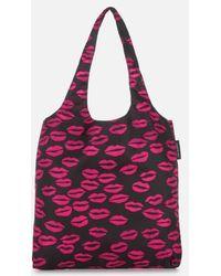 Lulu Guinness - Women's Silicone Lip Foldaway Shopper Bag - Lyst