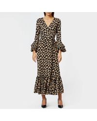 Diane von Furstenberg - Ruffle Sleeve Wrap Dress - Lyst