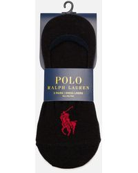 Polo Ralph Lauren - Stretch-cotton Shoe Liner Socks Pack Of Three - Lyst