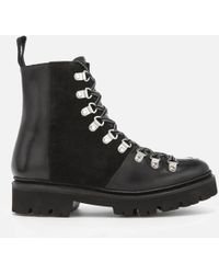Grenson - Women's Nanette Leather Hiking Lace Up Boots - Lyst