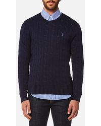 Polo Ralph Lauren | Men's Cotton Cable Knitted Jumper | Lyst