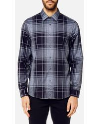 Michael Kors - Men's Classic Fit Giant Check Peached Cotton Long Sleeve Shirt - Lyst