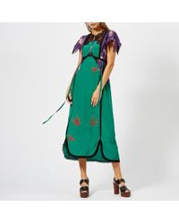COACH - Lace Embroidered Dress - Lyst