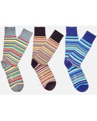 Paul Smith - Men's 3 Pack Socks - Lyst