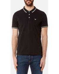 Emporio Armani - Men's Small Logo Polo Shirt - Lyst