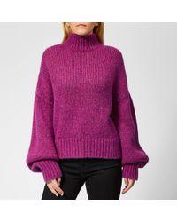 HUGO - Sacia Oversized Knitted Sweater - Lyst