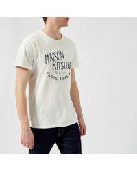 Maison Kitsuné - Men's Palais Royal Crew Neck Tshirt - Lyst