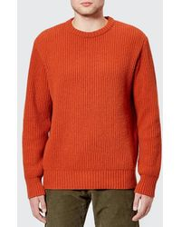 Universal Works - Men's Fisherman Rib Crew Knit Jumper - Lyst