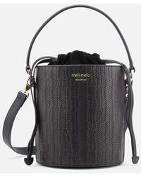 meli melo - Women's Santina Mini Woven Bucket Bag - Lyst