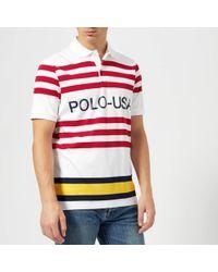 Polo Ralph Lauren - Regatta Us Polo Stripe Short Sleeve Polo Shirt - Lyst