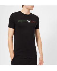 Emporio Armani - Men's Colours Logo Tshirt - Lyst