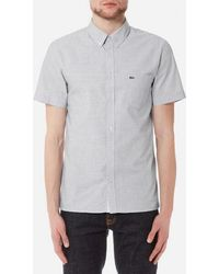 Lacoste - Men's Short Sleeved Casual Shirt - Lyst