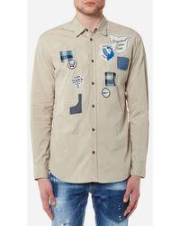 DSquared² - Men's Scout Badges Relax Dan Fit Shirt - Lyst