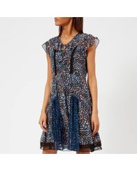 COACH - Women's Coach X Keith Haring Frilled Dress - Lyst