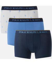 Polo Ralph Lauren - 3 Pack Classic Trunk Boxer Shorts - Lyst
