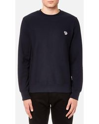 PS by Paul Smith - Men's Zebra Logo Crew Neck Sweatshirt - Lyst