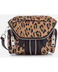 Alexander Wang - Women's Micro Marti Leopard Print Suede Shoulder Bag - Lyst