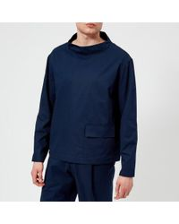 Lemaire - Men's Stand Collar Tshirt - Lyst