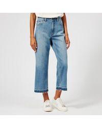 Marc Jacobs - Women's Cropped Vintage Denim Jeans - Lyst