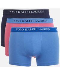 Polo Ralph Lauren - Men's Classic 3 Pack Trunk Boxer Shorts - Lyst