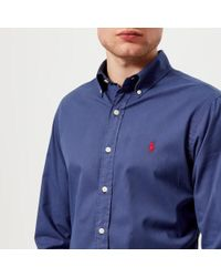 Polo Ralph Lauren - Men's Long Sleeve Chino Shirt - Lyst