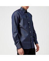 Eton of Sweden - Men's Contemporary Fit Pin Dot Under Collar Shirt - Lyst