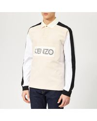 KENZO Chest Logo Rugby Polo Shirt - Multicolour