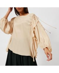 See By Chloé - See By Chloe Women's Ruffle Tie Sleeve Blouse - Lyst
