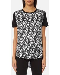 PS by Paul Smith | Women's Cat Silk Front Tshirt | Lyst