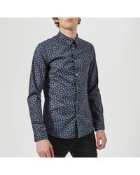 PS by Paul Smith - Men's Floral Long Sleeve Shirt - Lyst