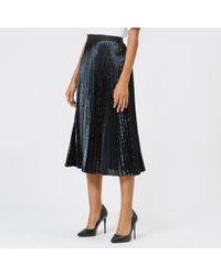 Christopher Kane - Women's Lamé Pleated Skirt - Lyst