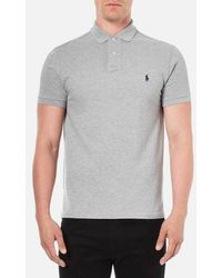 Polo Ralph Lauren - Men's Custom Fit Short Sleeved Polo Shirt - Lyst