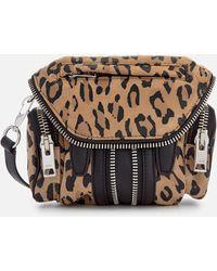 Alexander Wang Micro Marti Leopard Print Suede Shoulder Bag