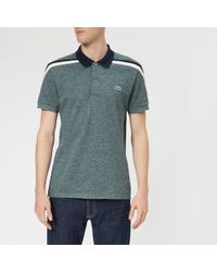 Lacoste - Men's Made In France Shoulder Tape Polo Shirt - Lyst