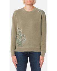 Barbour - Women's Fern Crew Neck Sweatshirt - Lyst