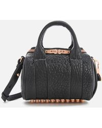 Alexander Wang - Women's Mini Rockie Pebbled Leather Bag With Rose Gold Studs - Lyst