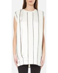 DKNY - Women's Sleeveless Reversible Panelled Tunic With Drawcord And Exposed Label - Lyst