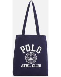 04c2775cab Polo Ralph Lauren - Cotton Twill Canvas Tote Bag - Lyst