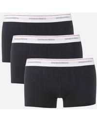 DSquared² - Men's Triple Pack Trunk Boxer Shorts - Lyst