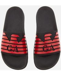 Emporio Armani   Men's Slide Sandals   Lyst