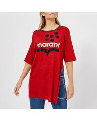 Étoile Isabel Marant - Logo Oversized T-shirt - Lyst