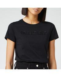 Helmut Lang Raised Embroidered Standard T-shirt - Black