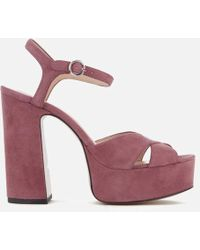 Marc Jacobs - Women's Lust Leather Platform Heeled Sandals - Lyst